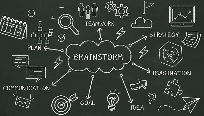 Brainstorming website ideas to help your business